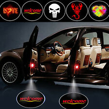 2Pcs Wireless Car Door Decoration Light Ghost Shadow LED Welcome Laser Projector