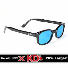X-KD's Black Frame Turquoise Lens Sunglasses XKD Motorcycle Riding Glasses KD