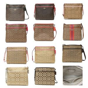 Coach F58297 Signature File Bag Crossbody Bag F38402 F36378 F58285 F58297