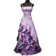 Robe de soirée grande taille longue lilas à froufrous taille 46-48