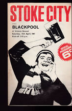 Stoke City vs Blackpool Official Programme April 11 1967