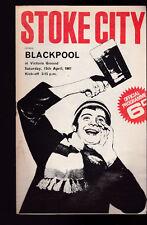 Stoke City vs Blackpool Official Programme April 11 1967