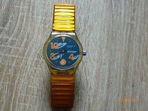 stop swatch mit orangen Armband von 1992