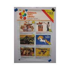 Children's Video Library Anthology Vintage Original Movie Poster
