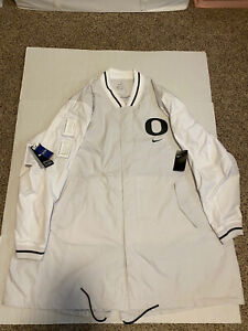 Nike Oregon Ducks Sideline Jacket Fuse White 2019 Men's Size: 4XL NWT