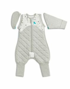 SWADDLE UP TRANSITION SUIT - WARM 2.5TOG - WHITE/GREY 2 SIZES by Love to Dream
