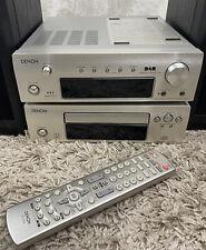 Denon DRA-F102 DAB HiFi System Amp CD Tuner  Speakers + Bluetooth adapter