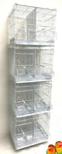 4 of Stackable Double Dividers Breeding Bird Flight Canaries Lovebirds Cages