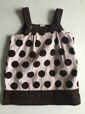 GYMBOREE OUTLET DRESS 4 4T SWEETER THAN CHOCOLATE Brown Pink VINTAGE JUMPER