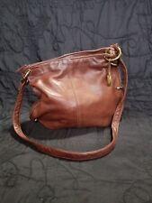 Vintage 70's LETISSE Brown Redish Leather Shoulder Handbag