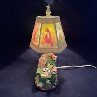 Vtg JSNY Chair Kittens Cats Reverse Painted Lighted Lamp Shade NEW Mother's Day