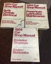 1984 Ford Car Shop Manual Set Of 3 Body Powertrain Emission Electrical Repair E