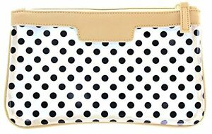 First Glance Clear Essentials Case with Polka Dot Decoration (TAUPE)