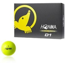 Honma Golf Golf Ball D1 2pcs 1 dozen (12 pieces) Yellow Bt1601
