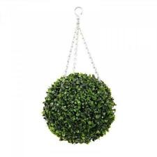 Topiary Artificial Outdoor/Indoor Plant Hanging Ball Decor With Chains (30cm)