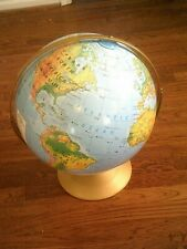 "Vintage Mid Century Rand McNally Sculptural Markable Surface Globe, 14"" Wide"