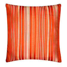 """Self Embossed Orange Striped Satin Cushion Cover Pillow for Sofa Bed 16"""" x 16"""""""