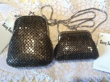 Vintage 2000 SUZY SMITH Of London glam mesh Bag And Purse set  BNWT