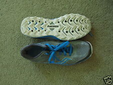 GREAT Saucony Kinvara Tr gray + blue lightweight running/trail shoes - womens 10