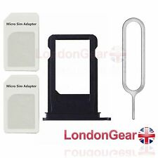 iPhone 7G PLUS Sim Card Tray Slot Holder Ejector+Adapter Replacement Part Black
