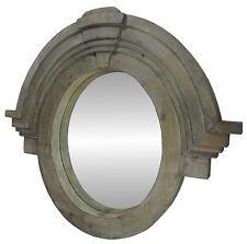 Trumeau Cadre Miroir Déco Bois Salle de Bain Glace Ovale Oeil de Boeuf 99 cm