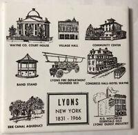 Vintage Trivet Ceramic Accent Wall Tile LYONS New York 1831-1966 (6x6 Tile) AA