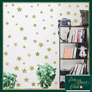 Gold Star Wall Stickers Decal Child Vinyl Art Decor Spots Circle Baby Nursery