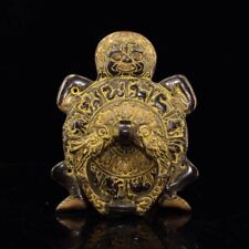Chinese Antique Tibetan temple collection old copper handmade monster Knocker