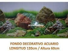 FONDO DECORATIVO ACUARIO longitud 120cm altura 60cm paisaje terrario pecera D442