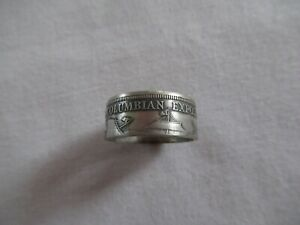 1893 COLUMBIAN EXPO COIN RING SIZE 8