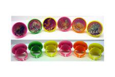 Scarce 1970's/80's Dinosaur Flicker Rings Complete Set Of (6)