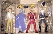 FarScape Action Figure Set 4 Sci Fi Crichton Zhann D'argo Chianna Toy Vault