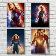 Captain Marvel Brie Larson Poster A4 NEW Set HQ Print Superhero Home Wall Decor