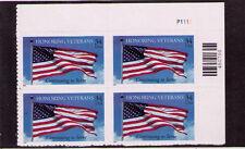 New listing Us Usa Sc# 3508 Mnh Fvf Pl# Block Honor Veterans Flag