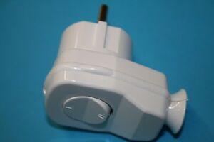 Winkel stecker, AWA-L, weiss, mit Schalter, Steckdose, Stecker, Schukosteckdose