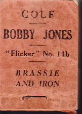 SCARCE ORIGINAL BOBBY JONES GOLF FLICKER BOOK BRASSIE & IRON