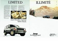 PUBLICITE ADVERTISING 017  1990  Jeep Cherokee Limited TD  (2 pages)