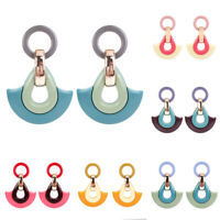 Women Boho Geometric Acrylic Tassels Drop Dangle Stud Earrings Jewelry Gift
