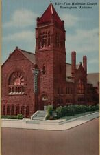 VTG First Methodist Church in Birmingham Alabama AL Postcard