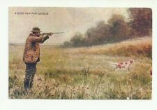 A GOOD DAY FOR GROUSE - VINTAGE HUNTING POSTCARD
