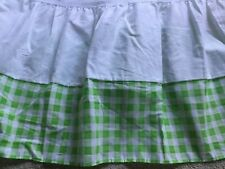 Bright Emerald Green White Twin Bedskirt Bedding Gingham Single Dust Ruffle