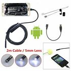 3.5/2/1.5M 5.5/7mm Android Endoscope Waterproof Borescope Inspection Camera 6LED