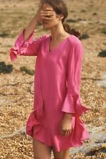 Bell-Sleeve Shift Dress Size 12 Runs L HD Paris NWT Wedding Pink
