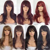 LONG LADIES WOMENS HEAT RESISTANT LAYERED WIG BLACK BROWN BLONDE RED