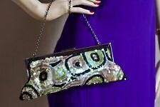 New York & Company  Beaded Sequin Clutch Evening Shoulder Bag Handbag Purse