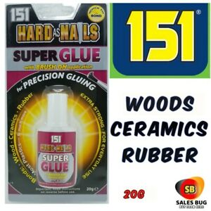 Super Glue 151 Hard As Nails Adhesive 20g Extra Strong Ceramic Wood Rubber