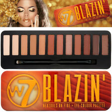 W7 BLAZIN' Neutral On Fire 12 Matt & Shimmer Powder Eye Colour EyeShadow Palette
