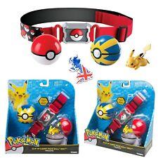 Pokemon Clip N Carry Poke Ball Belt Set Pikachu Figures Cosplay Toy Kids Gift UK