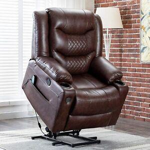 Power Lift Recliner Massage Chair W/Heat Vibration For Elderly Living Room Chair