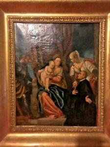 Peinture à l'huile sur toile fin du XVII début XVIIIéme siècle